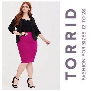 Torrid Berry Pink Ponte Knit Pencil Skirt